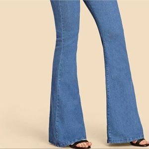 SHEIN Jeans - Flare jeans with paper bag waist